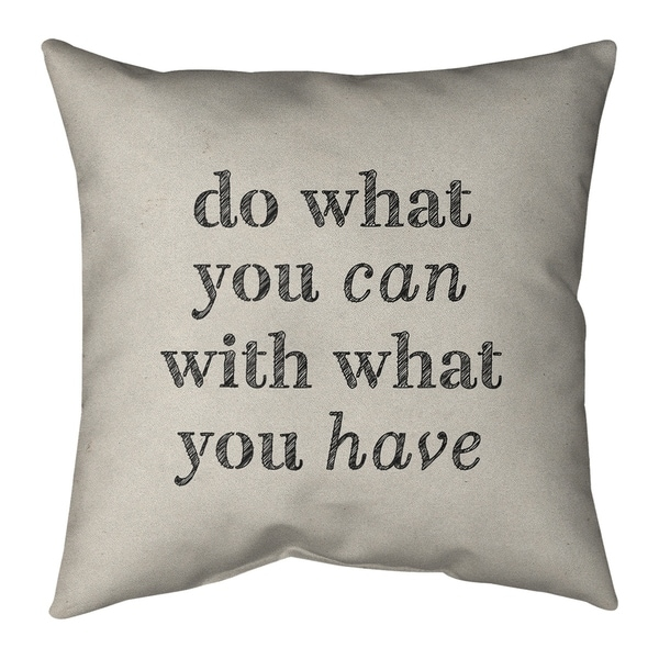 Quotes Handwritten Do What You Can Quote Pillow-Cotton Twill