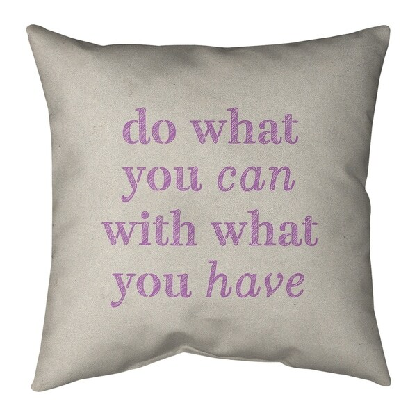 Quotes Handwritten Do What You Can Quote Floor Pillow - Standard