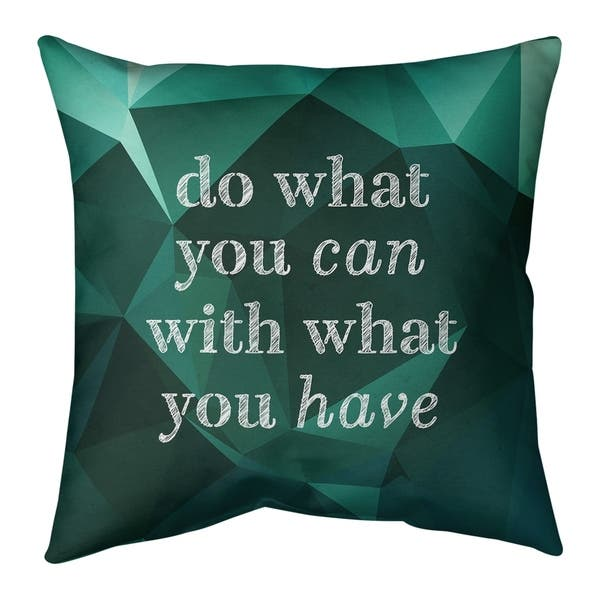 Quotes Faux Gemstone Do What You Can Quote Pillow Spun Polyester Overstock 30306500