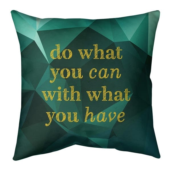 Quotes Faux Gemstone Do What You Can Quote Floor Pillow Standard Overstock 30306521