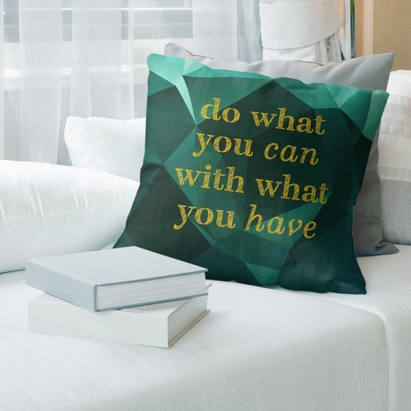 Quotes Faux Gemstone Do What You Can Quote Floor Pillow - Standard