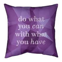 Quotes Faux Gemstone Do What You Can Quote Floor Pillow Standard Overstock 30306539