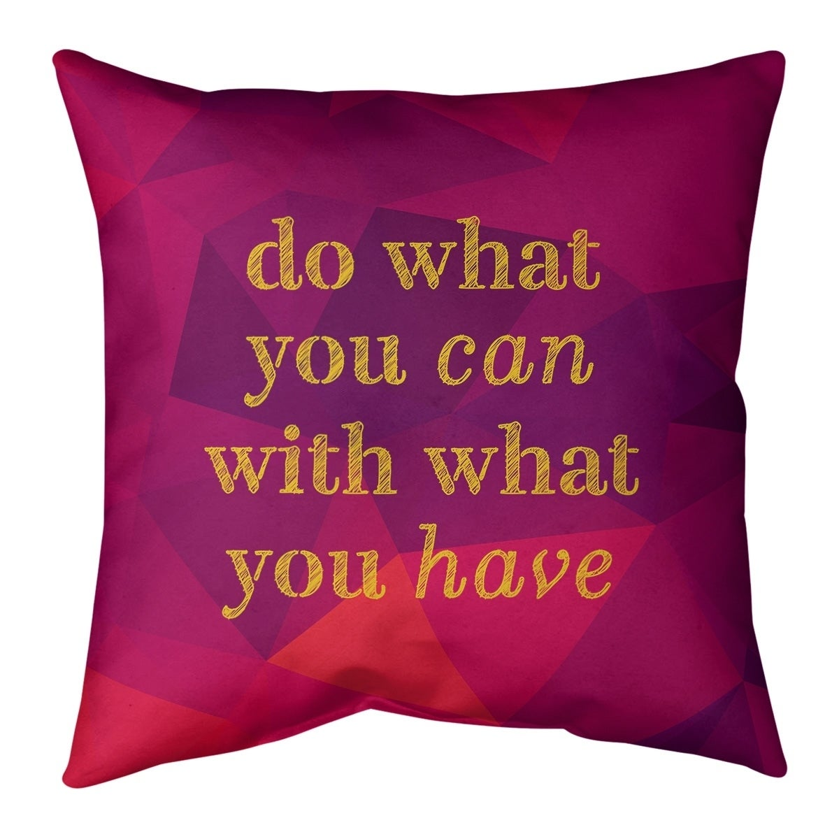 Quotes Faux Gemstone Do What You Can Quote Pillow Faux Linen Overstock 30306608