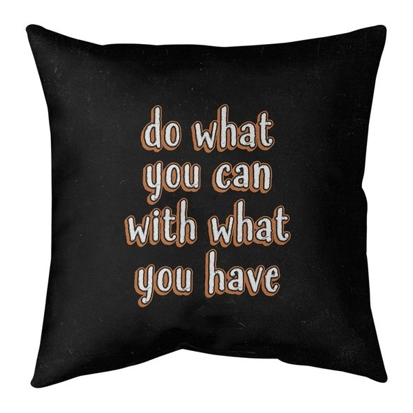 Quotes Do What You Can Quote Chalkboard Style Floor Pillow - Standard