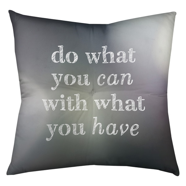 Quotes Multicolor Background Do What You Can Quote Floor Pillow - Square Tufted