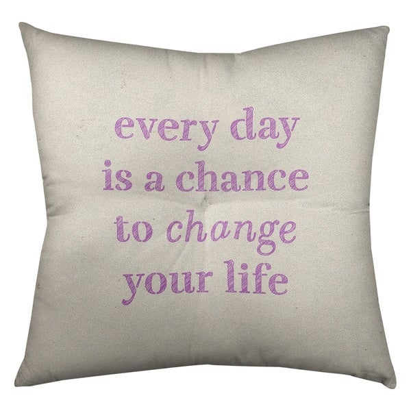 Quotes Handwritten Change Your Life Quote Floor Pillow - Square Tufted