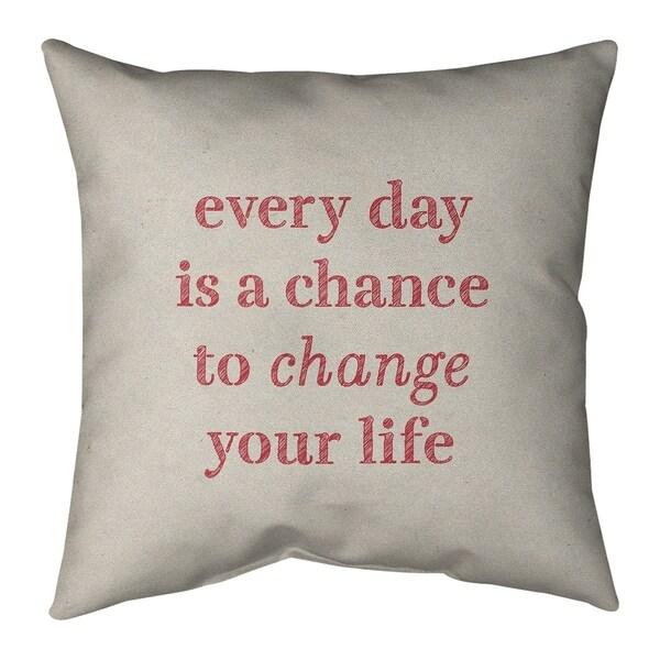 Quotes Handwritten Change Your Life Quote Floor Pillow - Standard