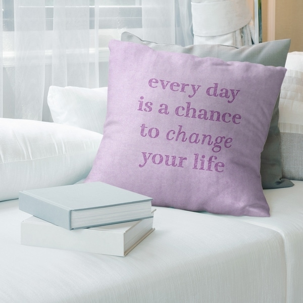 Quotes Handwritten Change Your Life Quote Pillow-Spun Polyester