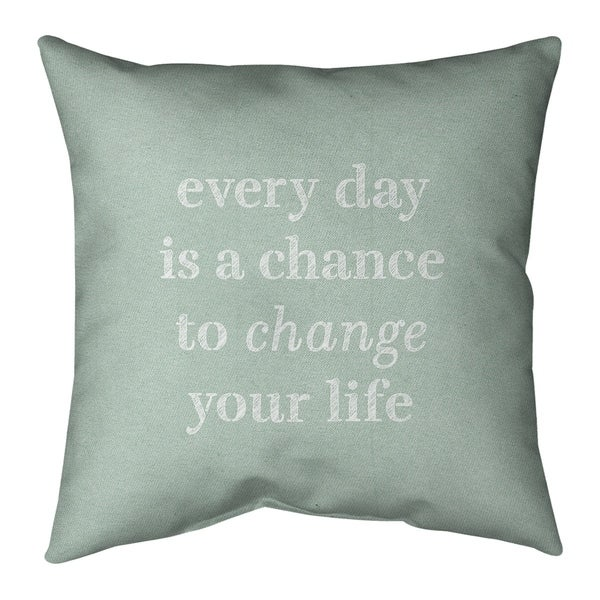 Quotes Handwritten Change Your Life Quote Pillow (w/Rmv Insert)-Spun Poly