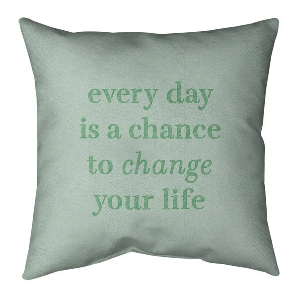 Quotes Handwritten Change Your Life Quote Pillow-Faux Linen