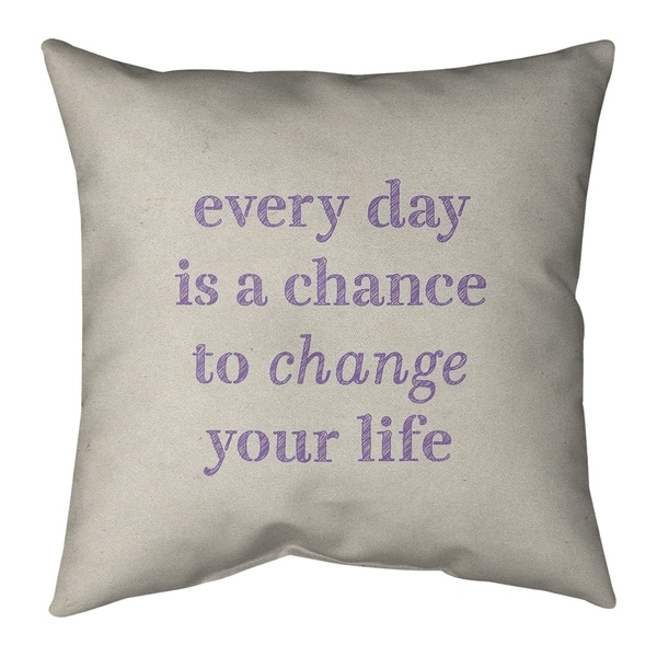 Quotes Handwritten Change Your Life Quote Pillow-Cotton Twill