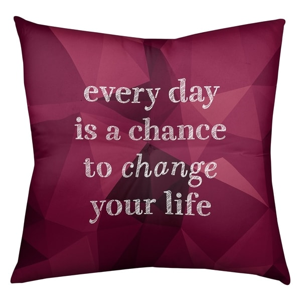Quotes Faux Gemstone Change Your Life Quote Floor Pillow - Square Tufted