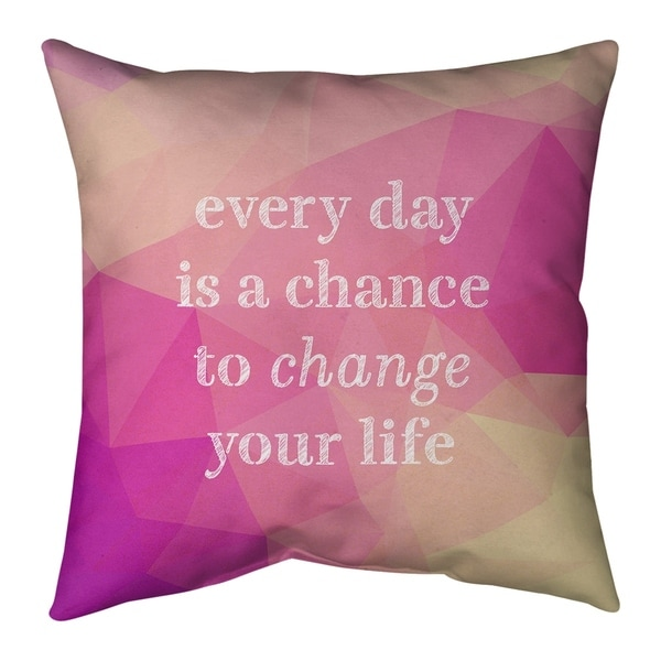 Quotes Faux Gemstone Change Your Life Quote Floor Pillow - Standard