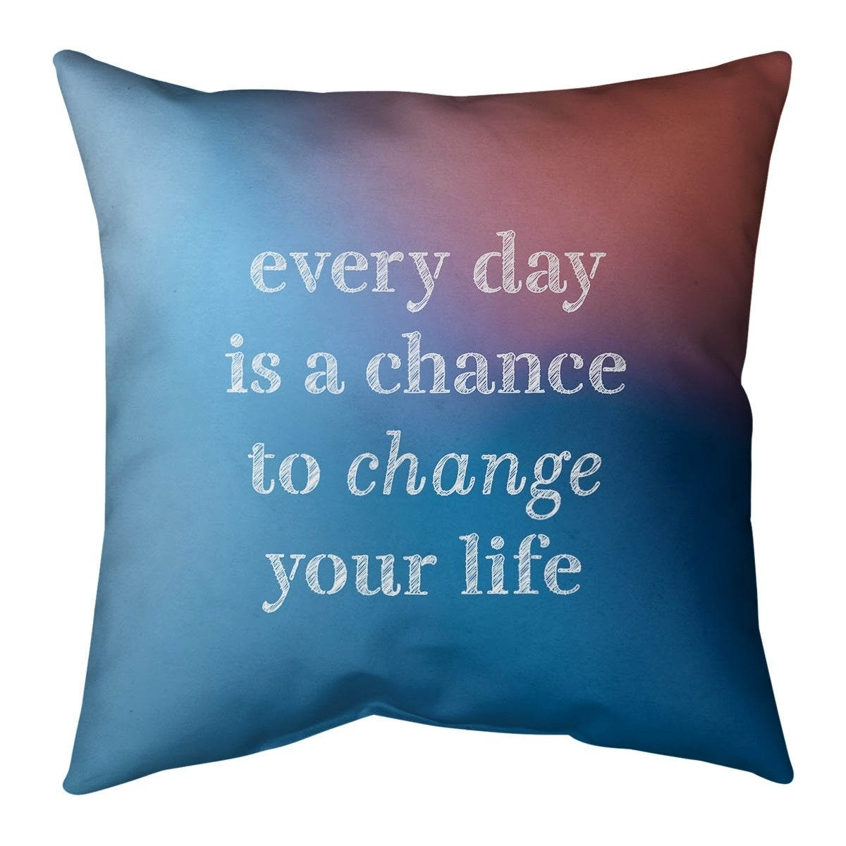 Quotes Multicolor Background Change Your Life Quote Floor Pillow Standard Overstock 30307471