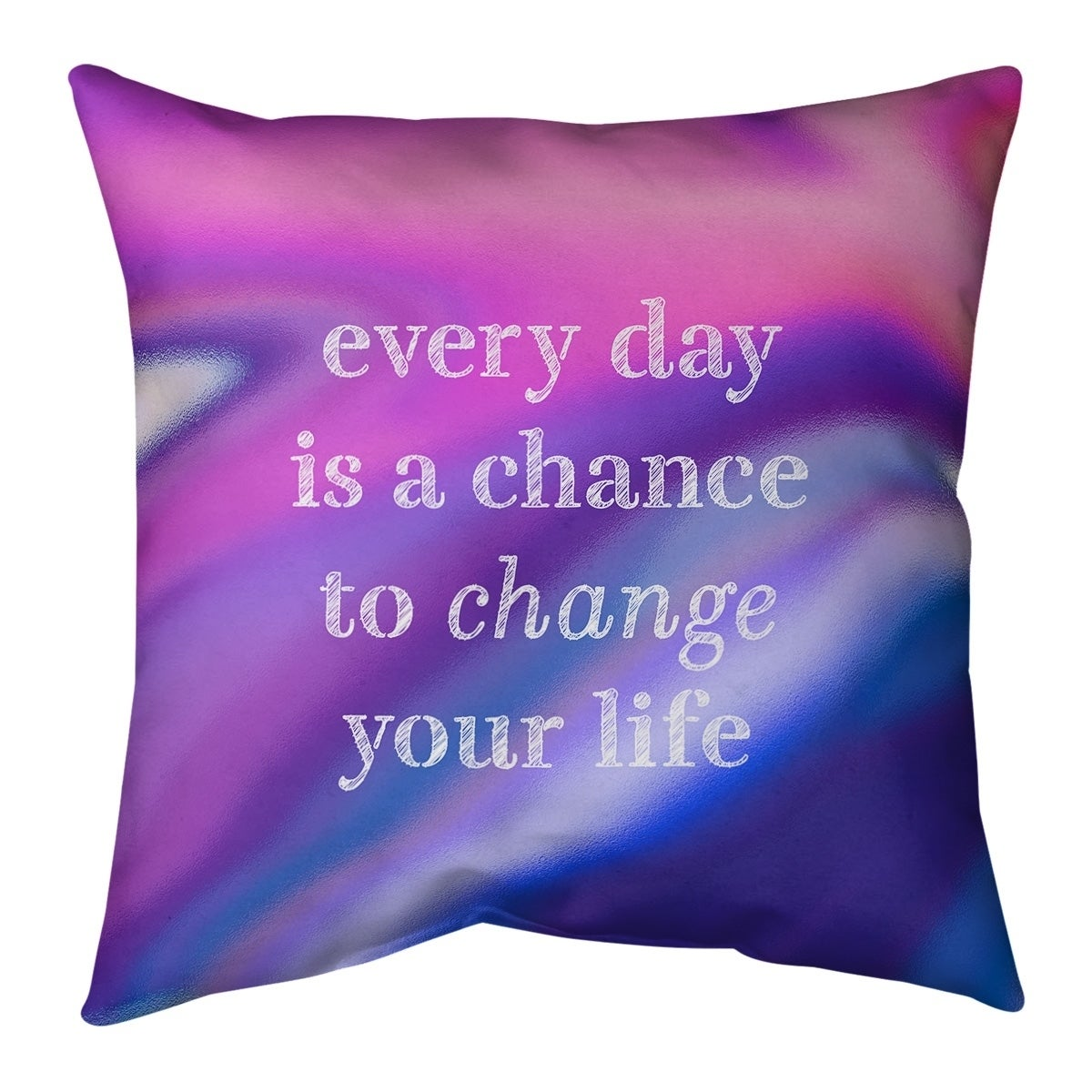 Quotes Multicolor Background Change Your Life Quote Pillow Faux Suede Overstock 30307487