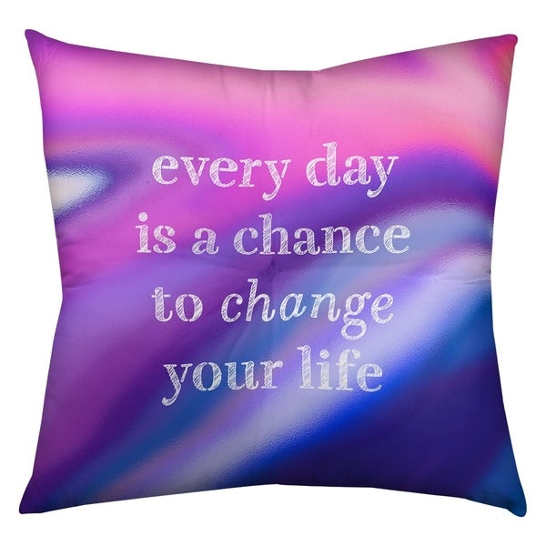 Quotes Multicolor Background Change Your Life Quote Floor Pillow - Square Tufted