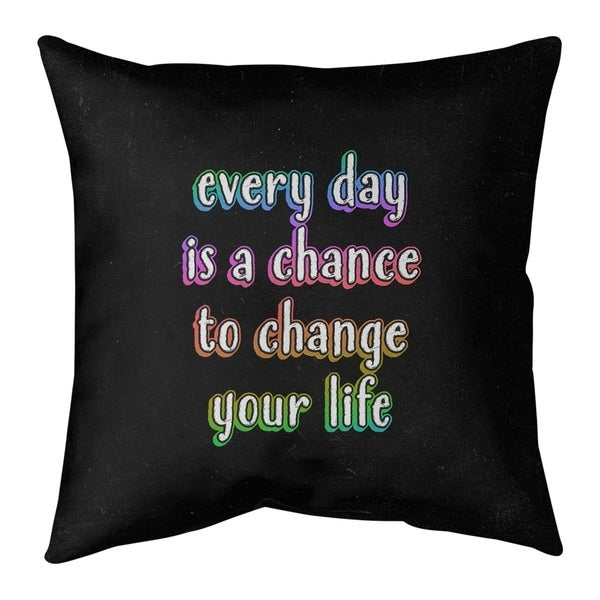 Quotes Change Your Life Quote Chalkboard Style Floor Pillow - Standard