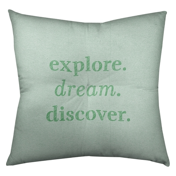 Quotes Handwritten Explore Dream Discover Quote Floor Pillow - Square Tufted