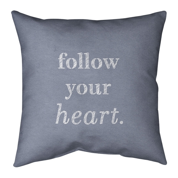 Quotes Handwritten Follow Your Heart Quote Pillow-Cotton Twill