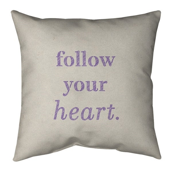 Quotes Handwritten Follow Your Heart Quote Floor Pillow - Standard