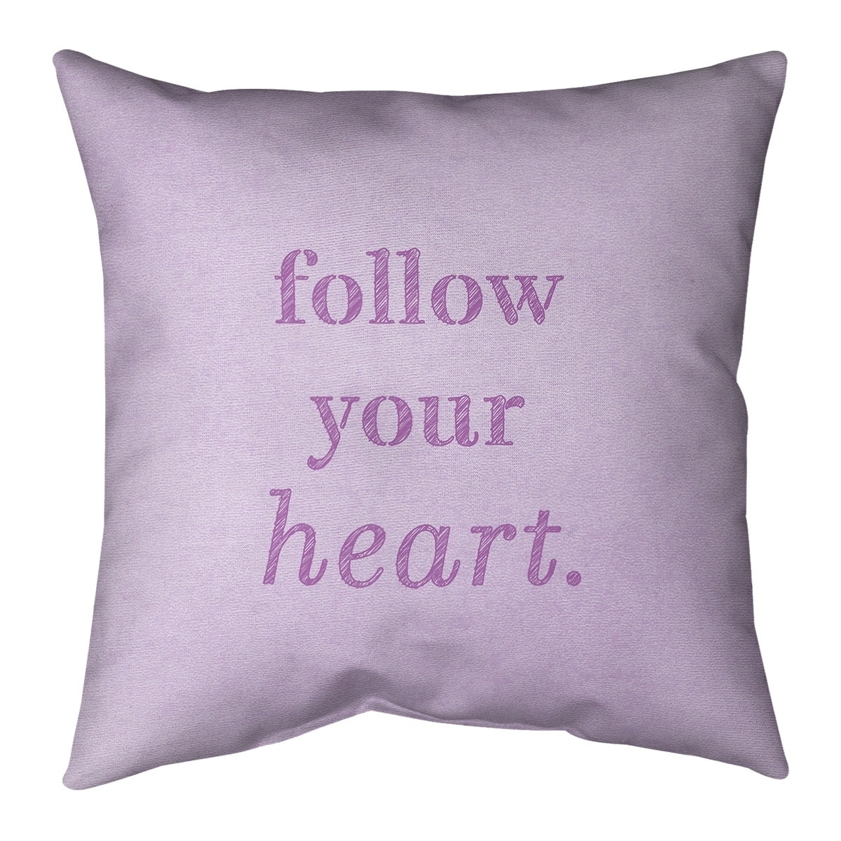 Quotes Handwritten Follow Your Heart Quote Pillow Cotton Twill Overstock 30308433