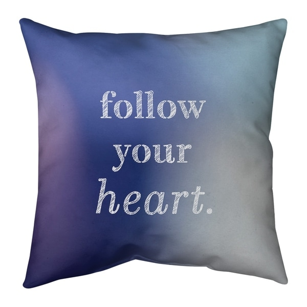 Quotes Multicolor Background Follow Your Heart Quote Floor Pillow - Standard