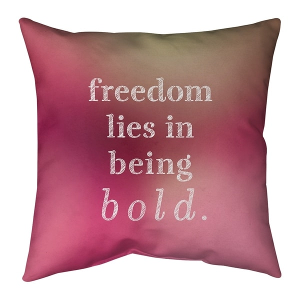 Quotes Multicolor Background Be Bold Inspirational Quote Pillow-Faux Linen