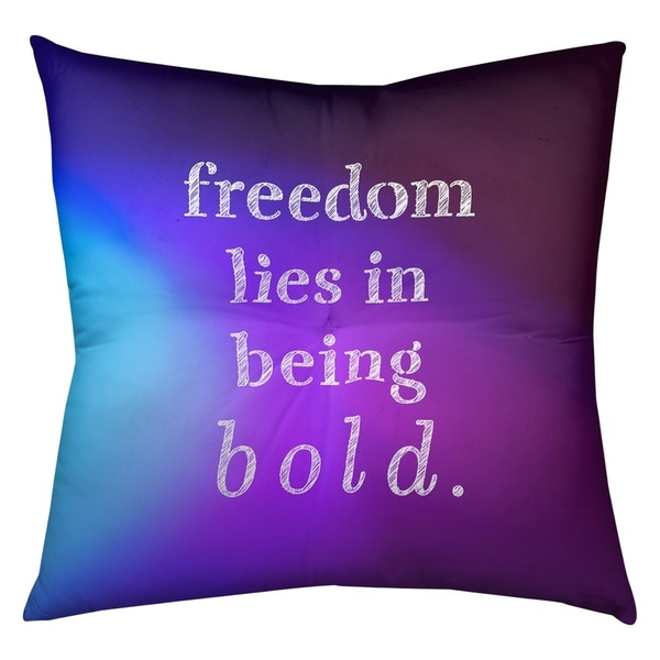 Quotes Multicolor Background Be Bold Inspirational Quote Floor Pillow - Square Tufted
