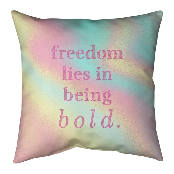 Quotes Multicolor Background Be Bold Inspirational Quote Pillow-Spun Polyester