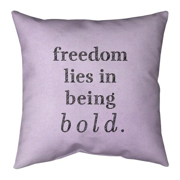 Quotes Handwritten Be Bold Inspirational Quote Floor Pillow - Standard