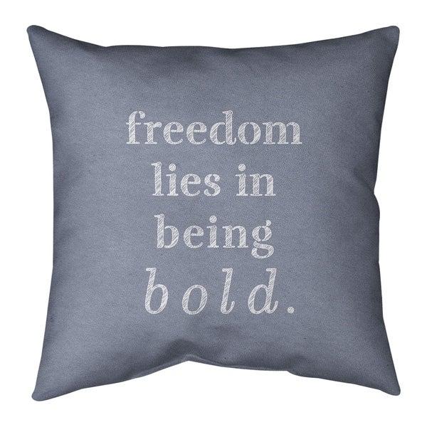 Quotes Handwritten Be Bold Inspirational Quote Pillow (Indoor/Outdoor)