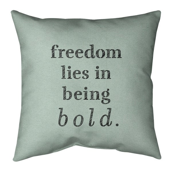 Quotes Handwritten Be Bold Inspirational Quote Pillow-Cotton Twill