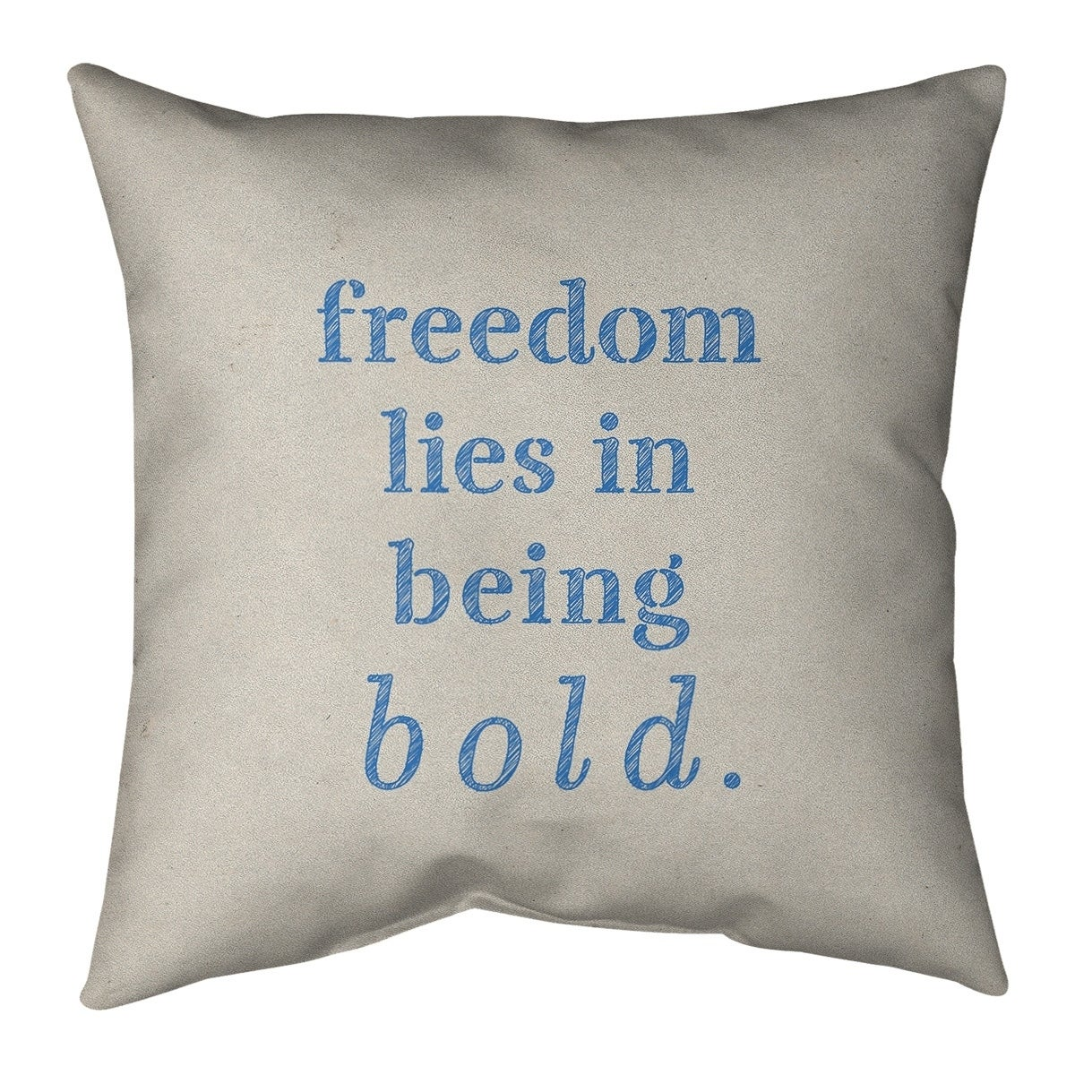 Quotes Handwritten Be Bold Inspirational Quote Pillow Cotton Twill Overstock 30309019