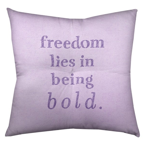 Quotes Handwritten Be Bold Inspirational Quote Floor Pillow - Square Tufted