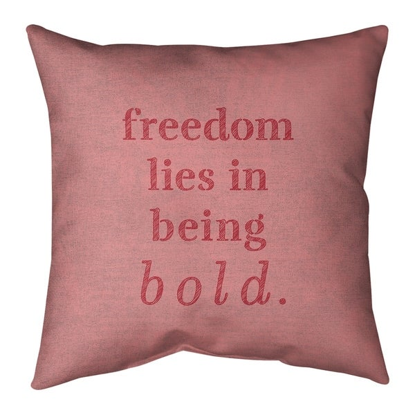 Quotes Handwritten Be Bold Inspirational Quote Pillow-Faux Suede