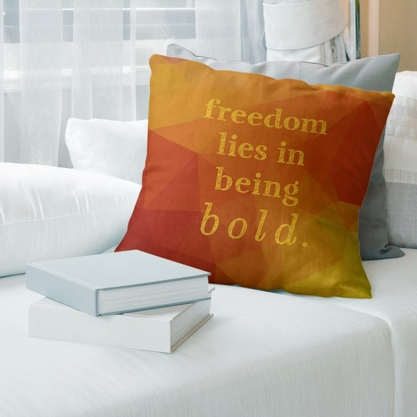 Quotes Faux Gemstone Be Bold Inspirational Quote Pillow-Cotton Twill