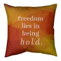 Quotes Be Bold Inspirational Quote Chalkboard Style Floor Pillow Standard Overstock 30309293