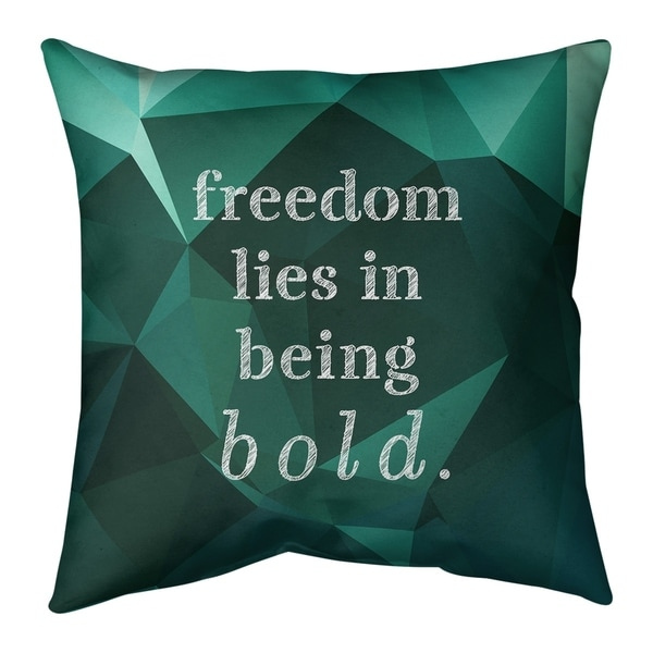 Quotes Faux Gemstone Be Bold Inspirational Quote Floor Pillow - Standard