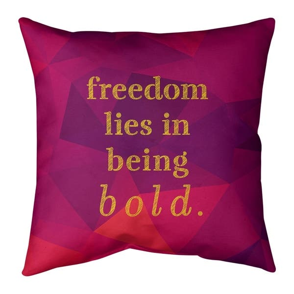 Quotes Faux Gemstone Be Bold Inspirational Quote Floor Pillow Standard Overstock 30309194