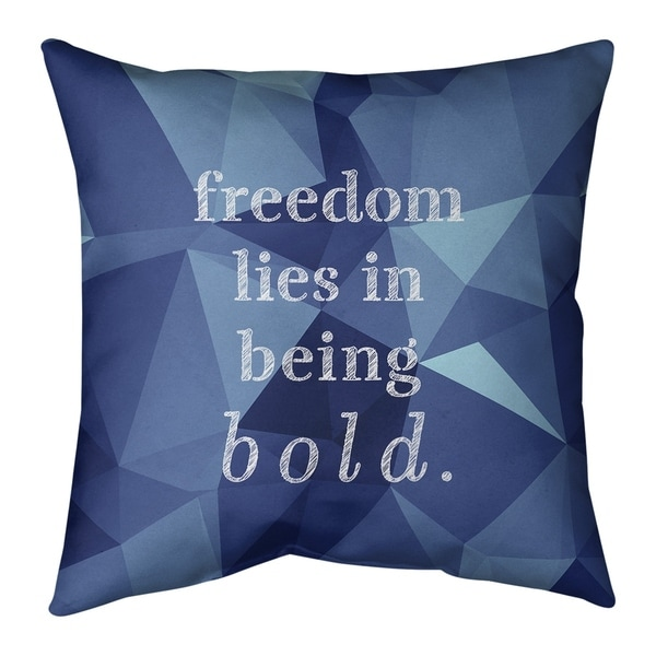 Quotes Faux Gemstone Be Bold Inspirational Quote Pillow-Faux Suede