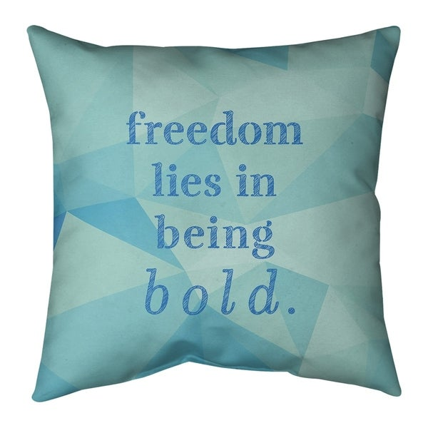 Quotes Faux Gemstone Be Bold Inspirational Quote Pillow (w/Rmv Insert)-Spun Poly