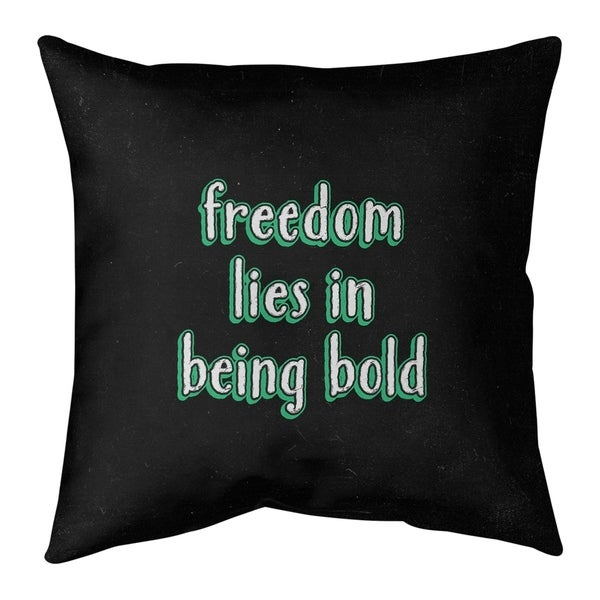 Quotes Be Bold Inspirational Quote Chalkboard Style Pillow-Faux Suede