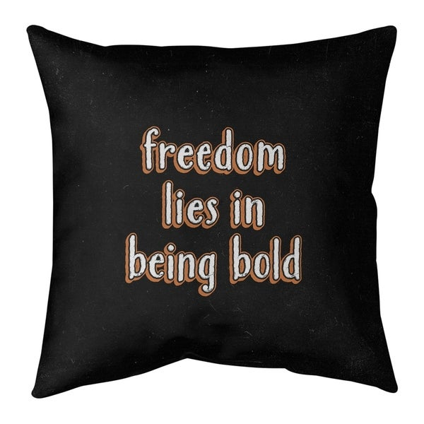 Quotes Be Bold Inspirational Quote Chalkboard Style Pillow-Faux Linen