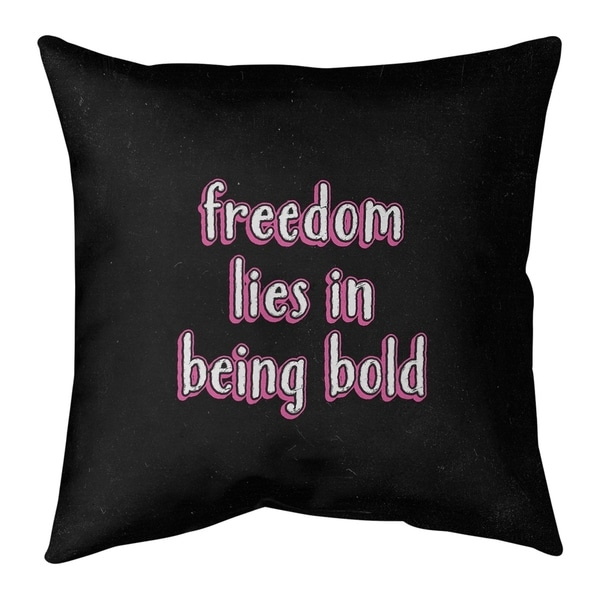 Quotes Be Bold Inspirational Quote Chalkboard Style Floor Pillow - Standard