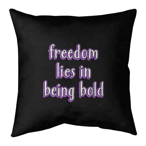 Quotes Be Bold Inspirational Quote Chalkboard Style Pillow-Cotton Twill