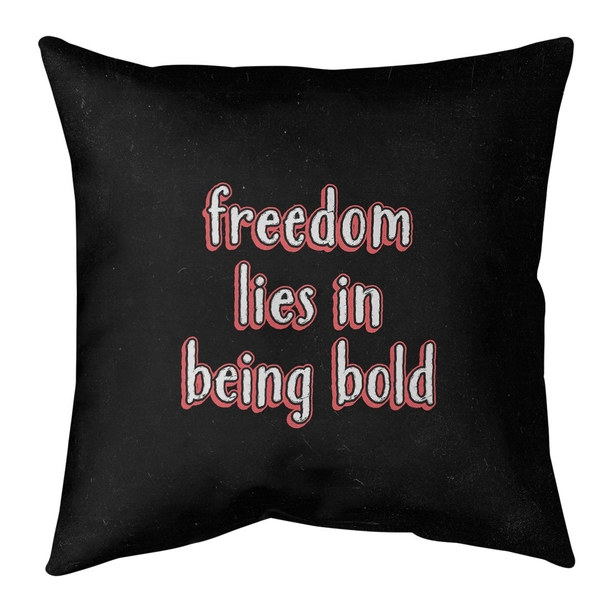 Quotes Be Bold Inspirational Quote Chalkboard Style Floor Pillow Standard Overstock 30309329