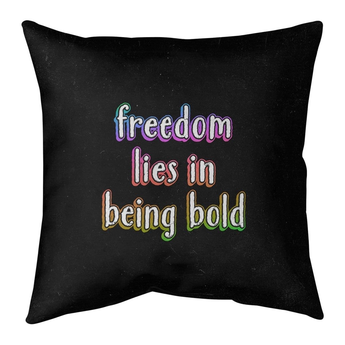 Quotes Be Bold Inspirational Quote Chalkboard Style Pillow Spun Polyester Overstock 30309331