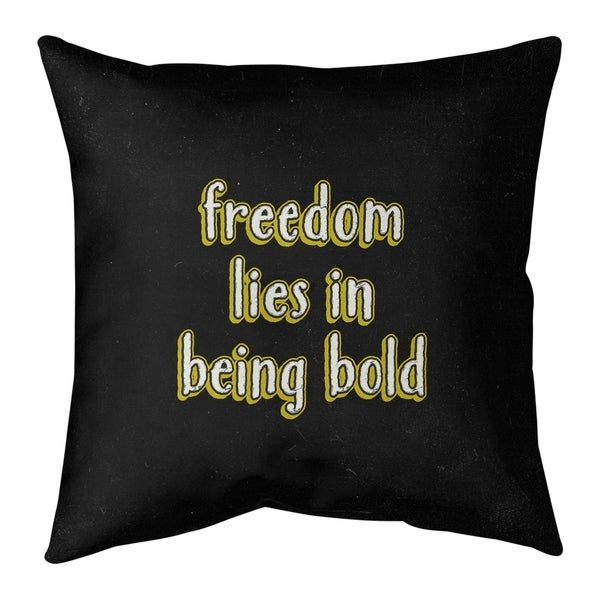 Quotes Be Bold Inspirational Quote Chalkboard Style Pillow-Spun Polyester