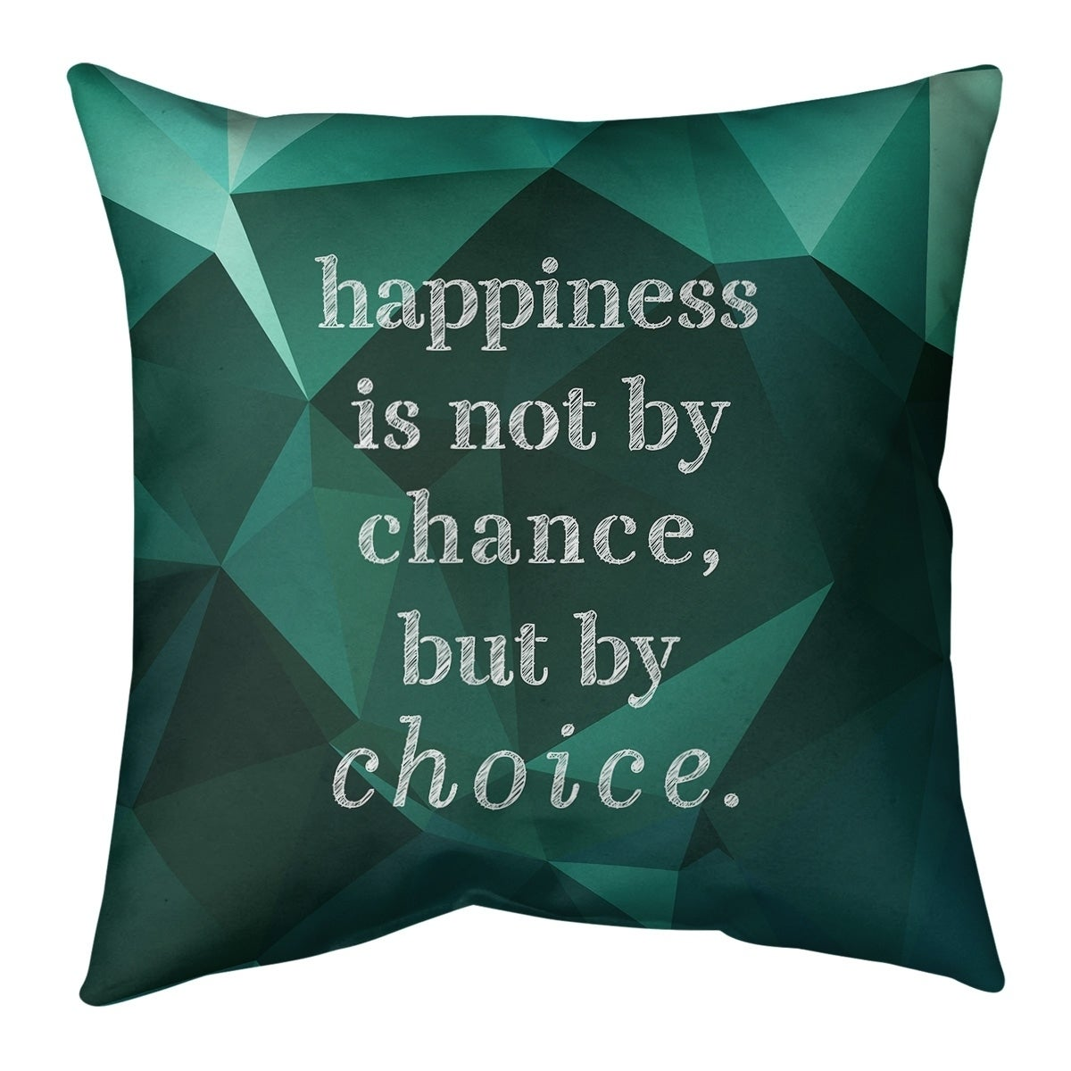 Quotes Faux Gemstone Happiness Inspirational Quote Pillow Faux Suede Overstock 30309376