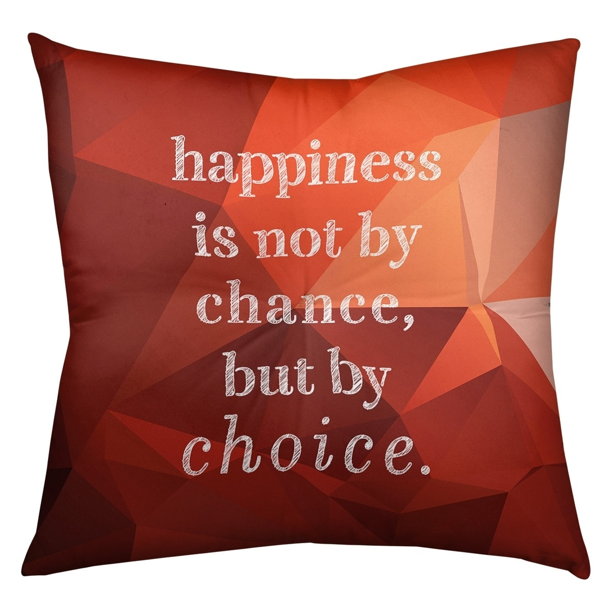 Quotes Faux Gemstone Happiness Inspirational Quote Floor Pillow Square Tufted Overstock 30309393